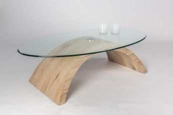 Table basse en verre sablé