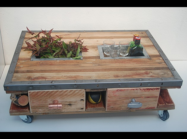 Table Basse Palette Et Metal