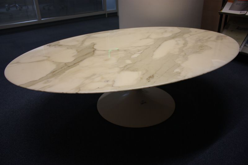 Table Basse Ovale Marbre Blanc Lille Menage Fr Maison