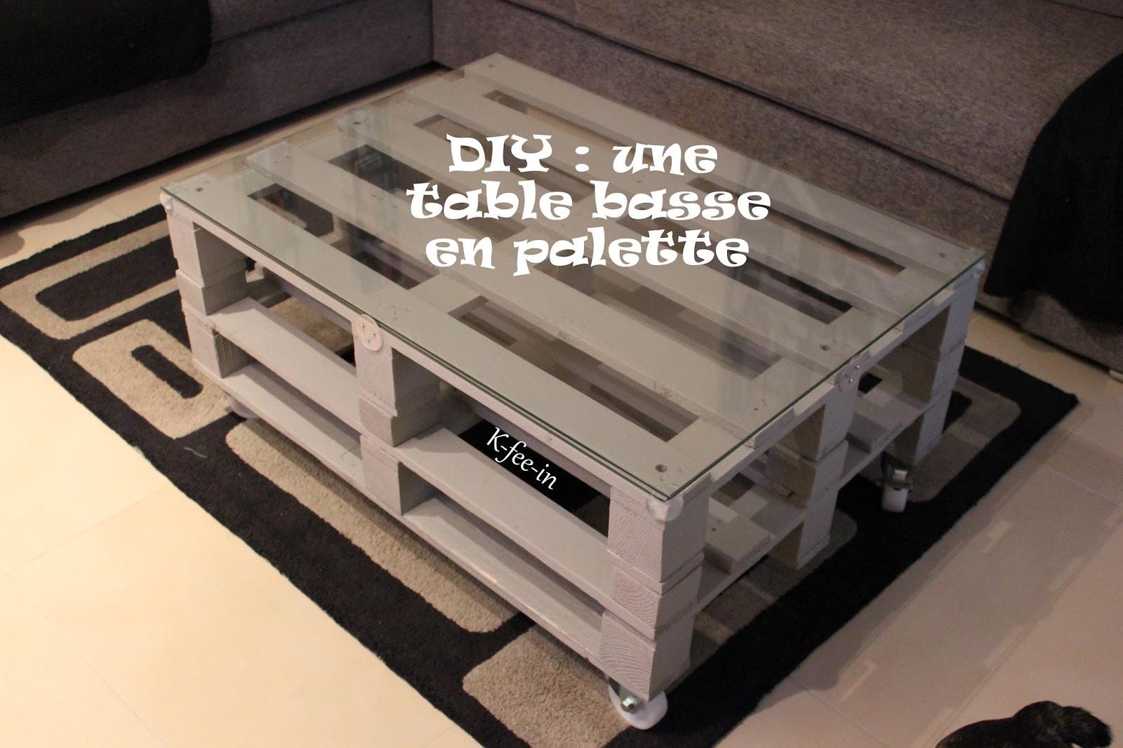 Cr er une table basse en verre lille maison - Creer une table basse ...