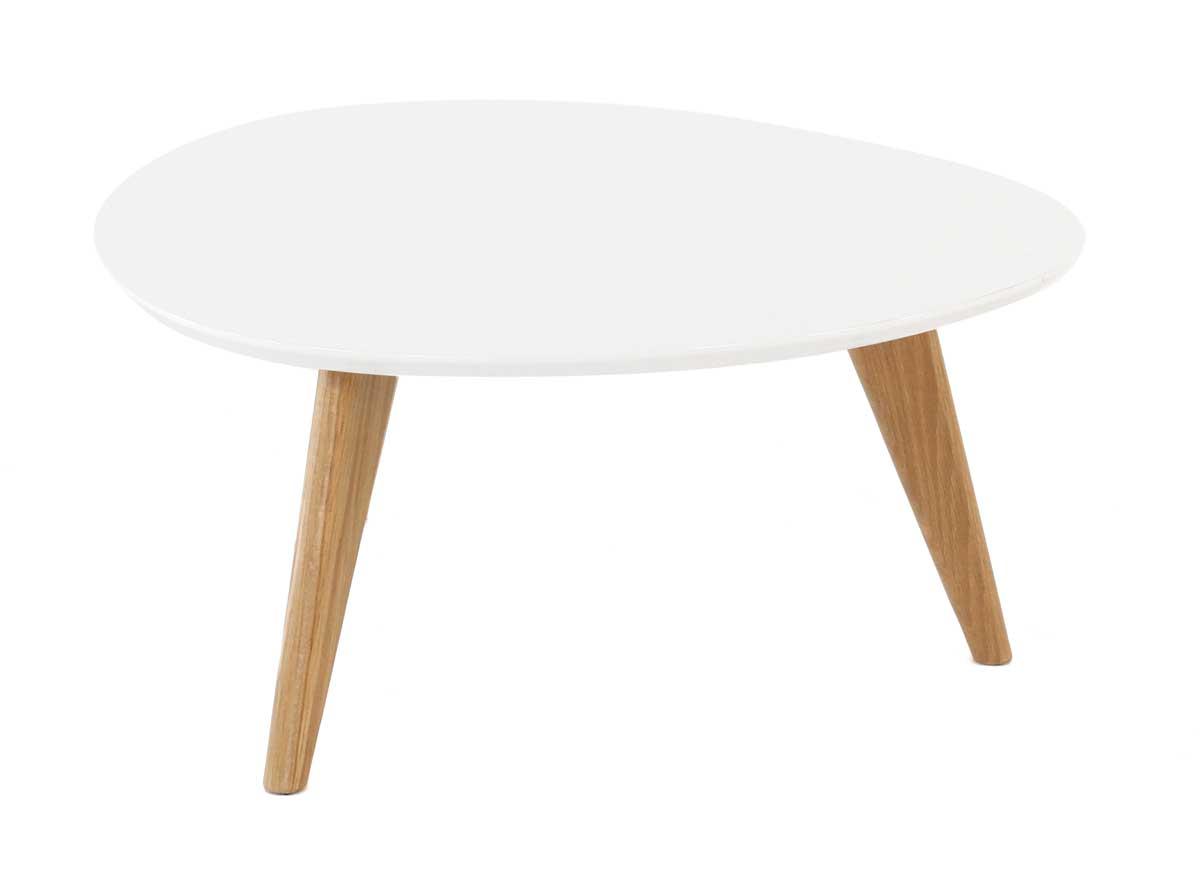 Table Basse Scandinave Plateau Blanc Lille Menagefr Maison
