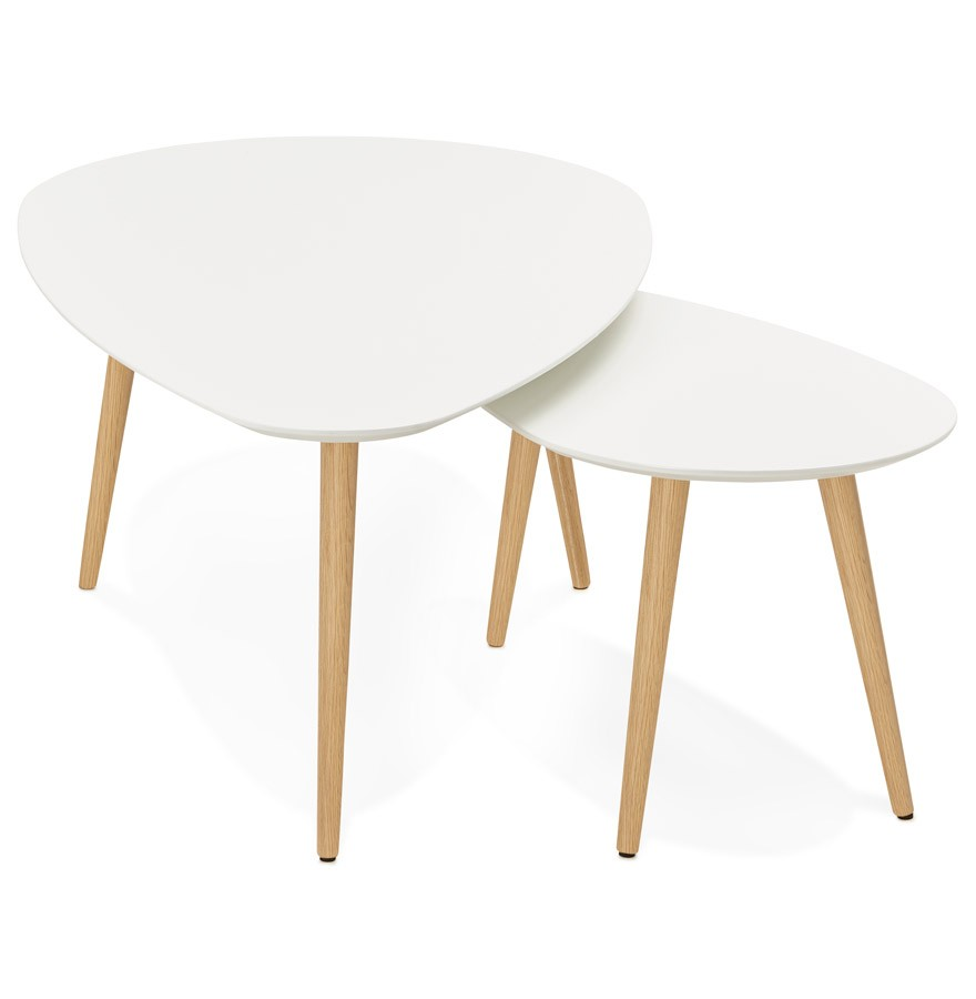 Table basse gigogne blanche lille maison Table basse gigogne blanche
