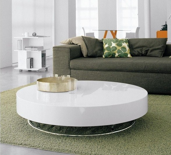 Table basse ronde plastique