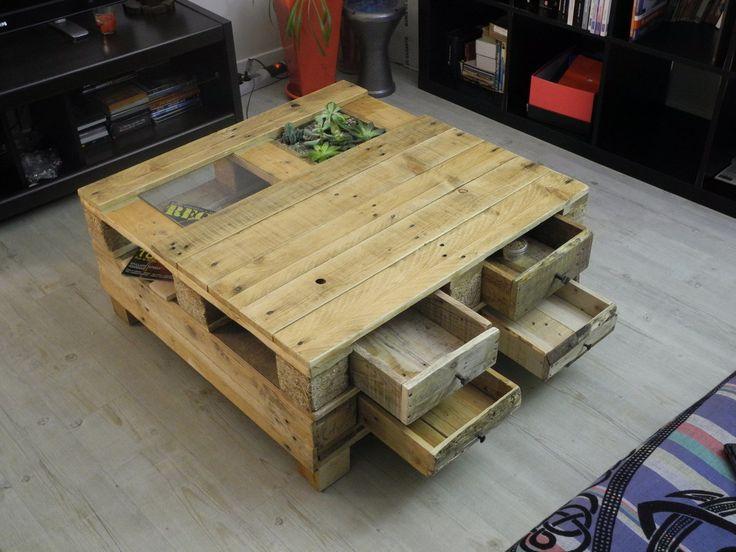 table basse palette caisse vin lille maison. Black Bedroom Furniture Sets. Home Design Ideas