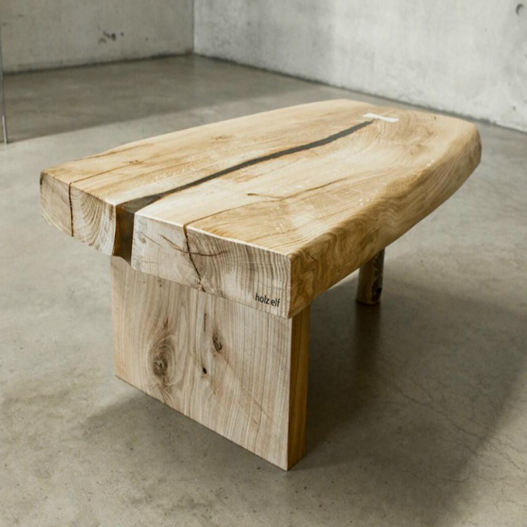 table basse design en bois brut lille maison. Black Bedroom Furniture Sets. Home Design Ideas
