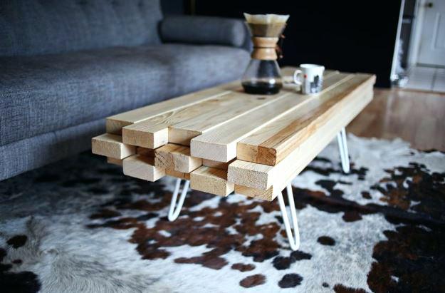 Comment Fabriquer Table Basse Scandinave