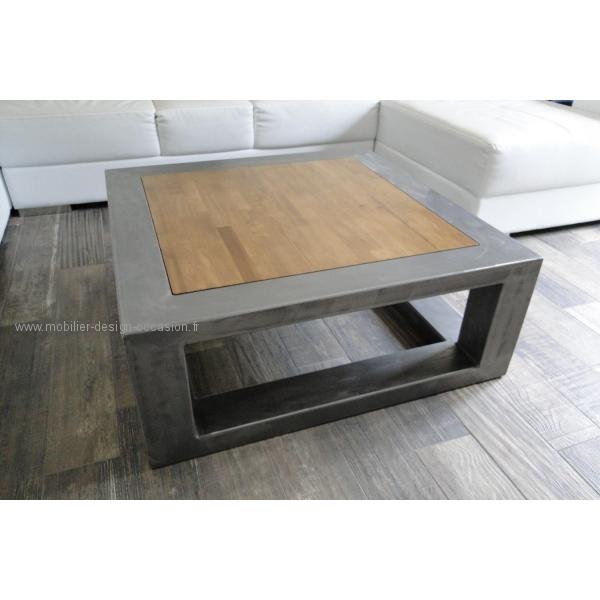 Table Basse Design Bois Acier Lille Menagefr Maison