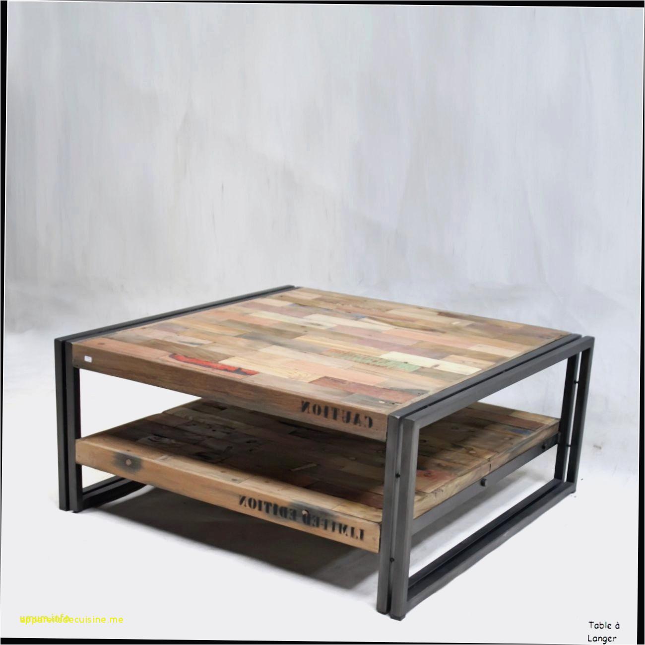 Table basse look industriel