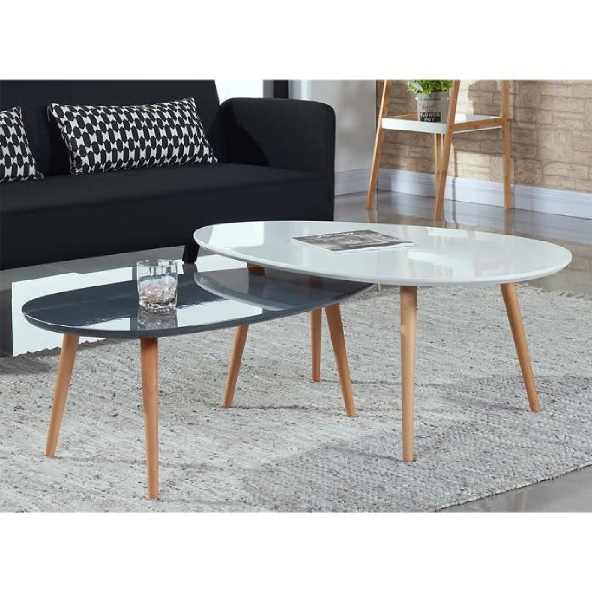 table basse scandinave grise et blanche lille. Black Bedroom Furniture Sets. Home Design Ideas