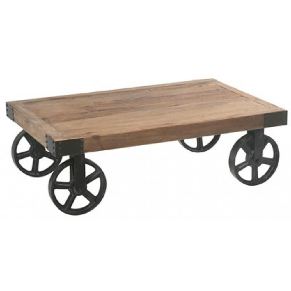 roulette pour table basse industrielle - Roulette Pour Table Basse