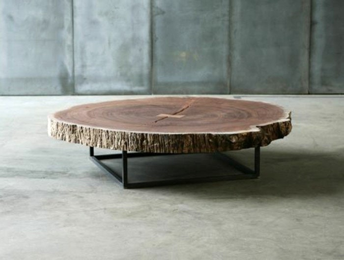 Table basse ronde bois brut lille maison - Table basse ronde conforama ...