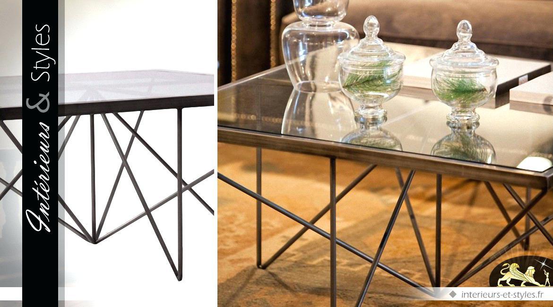 table basse design fer forge