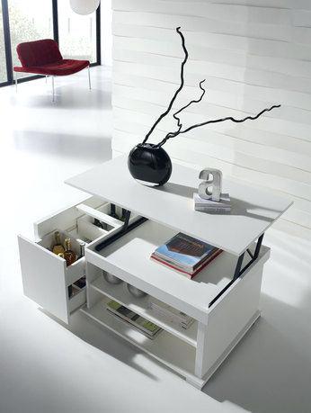 Table basse relevable noir et blanc - lille-menage.fr maison fa499b6844bf