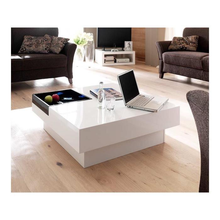 Table basse design noir laqué
