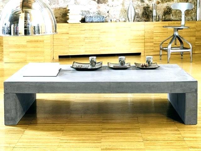 Table basse maison du monde beton
