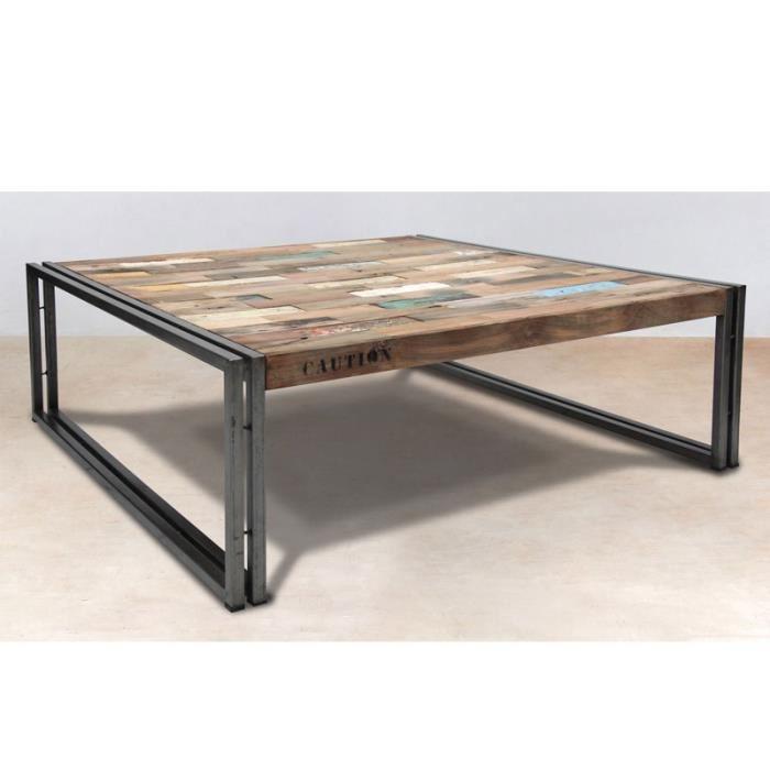 table basse bois et fer lille maison. Black Bedroom Furniture Sets. Home Design Ideas