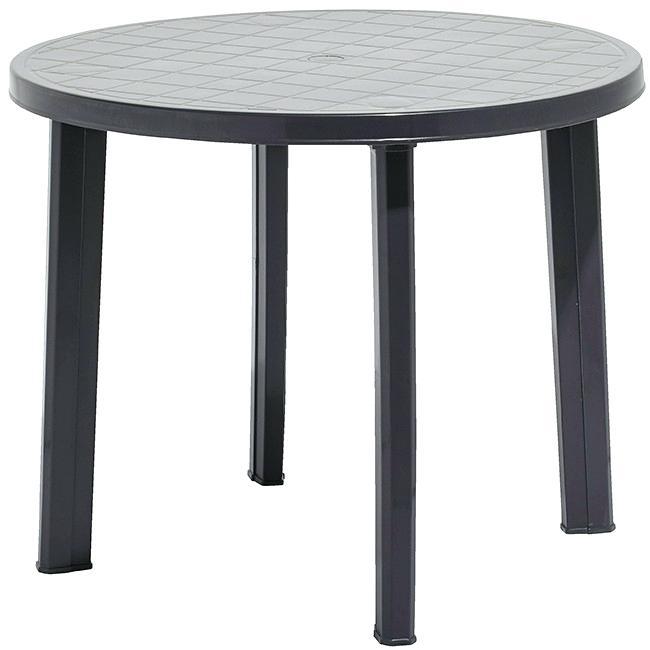 Table basse ronde plastique jardin lille maison - Table plastique jardin ...