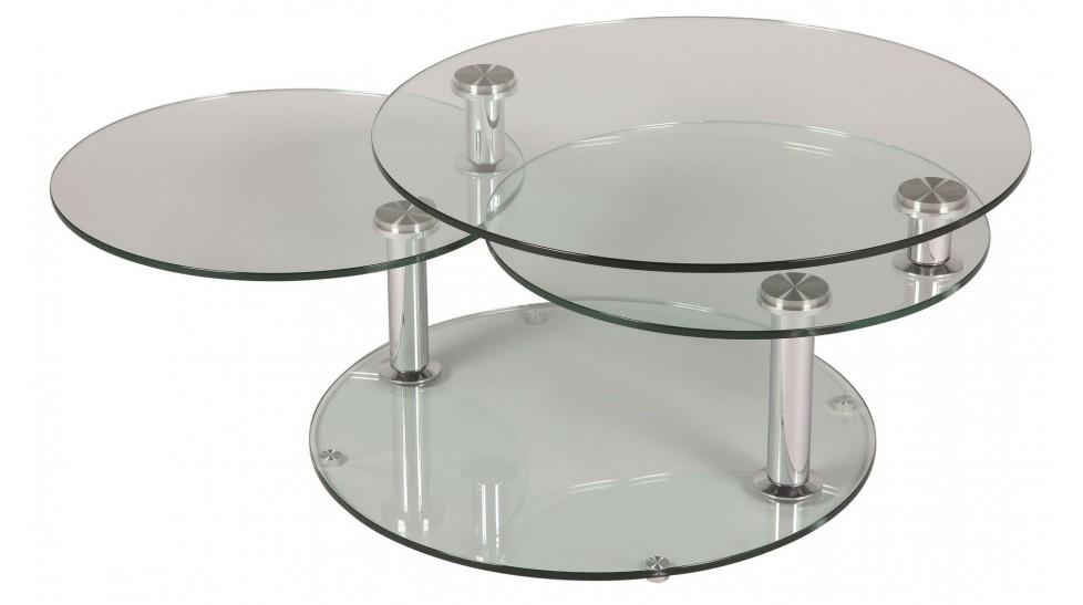 Table basse ronde verre design
