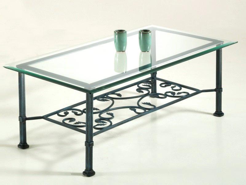 petite table en verre et fer forge. Black Bedroom Furniture Sets. Home Design Ideas