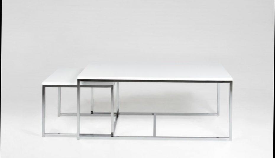 Table basse gigogne blanche et noire