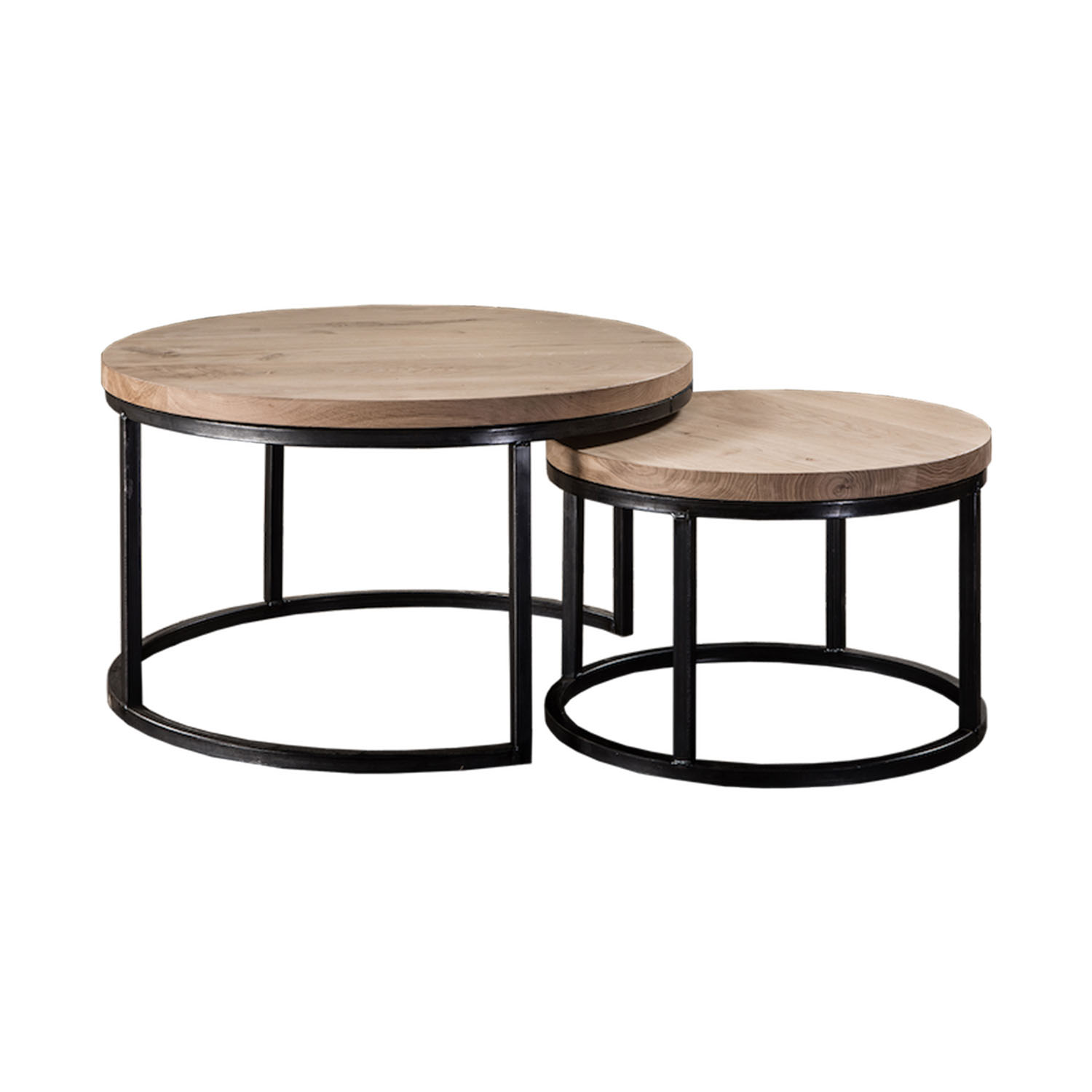 table basse gigogne ronde bois lille maison. Black Bedroom Furniture Sets. Home Design Ideas