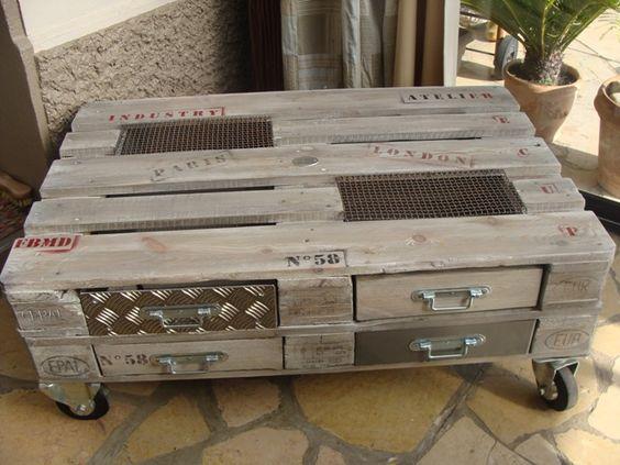Table basse avec palette lille maison - Acheter table basse palette ...