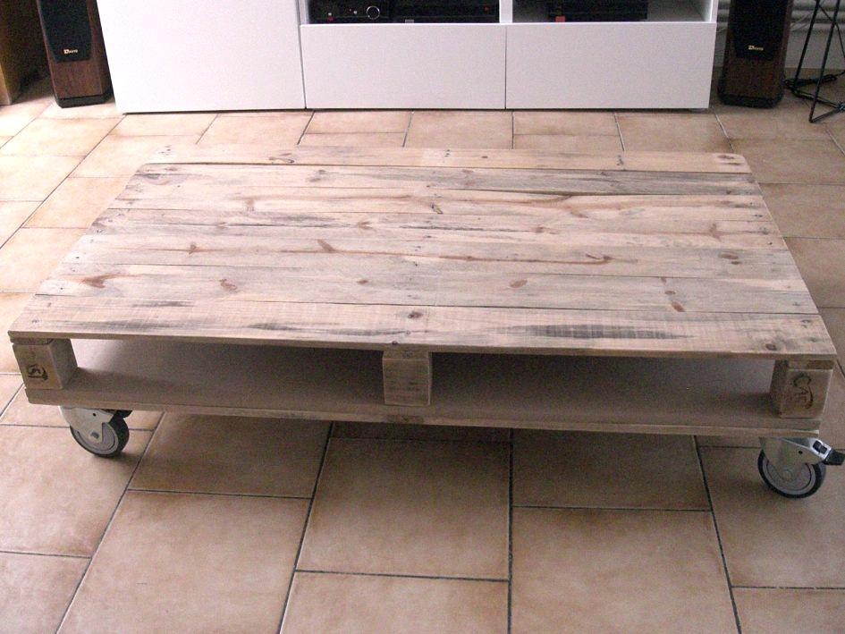 Table Basse Palette Europe Tuto Lille Menagefr Maison