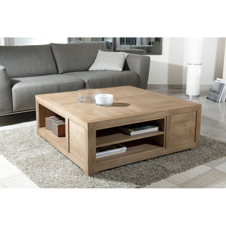 Table basse chene avec rangement