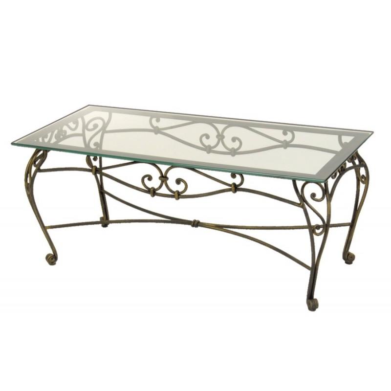 table basse fer forg et verre pas cher lille maison. Black Bedroom Furniture Sets. Home Design Ideas