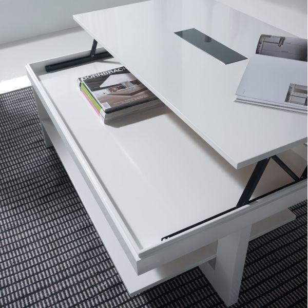 Table basse en verre relevable design