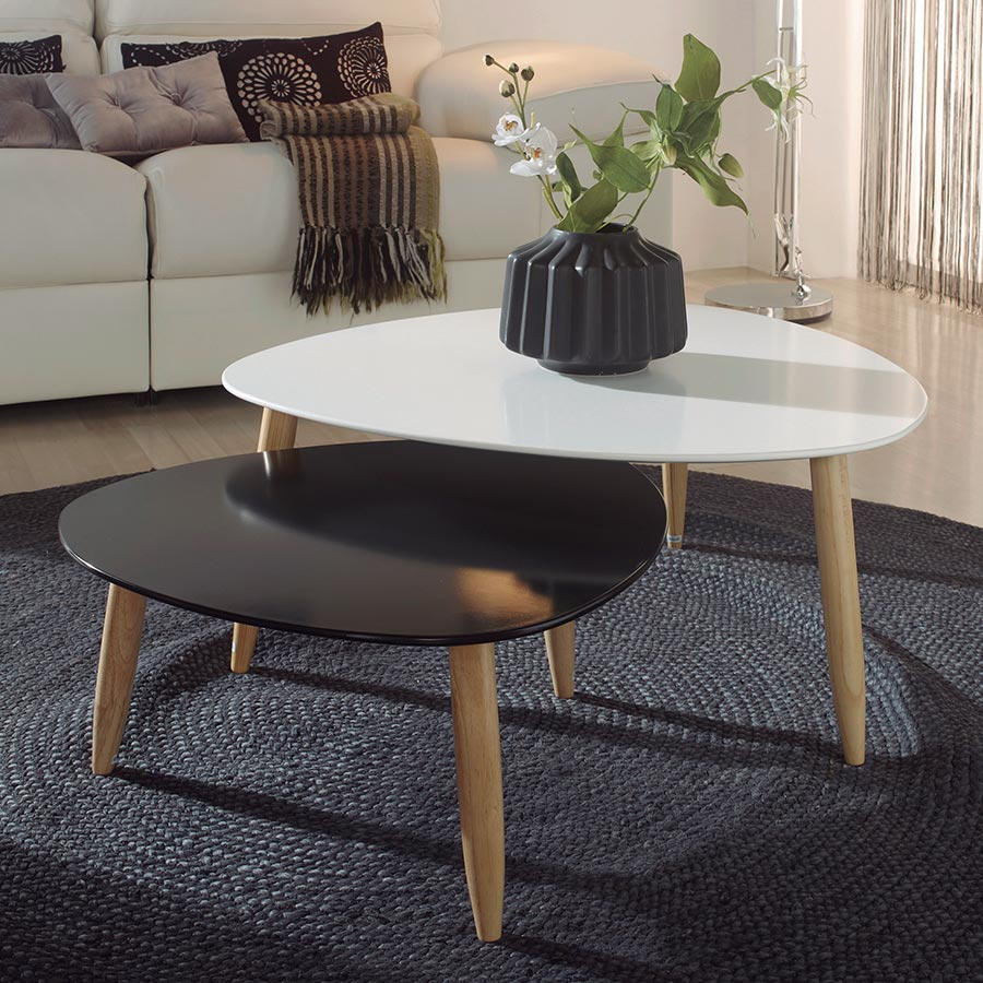 Table Basse Gigogne Design Blanc Lille Menage Fr Maison