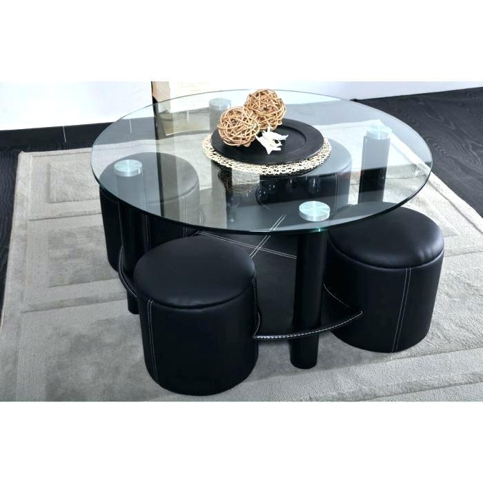 Table basse ronde en verre avec pouf lille maison - Table basse ronde en verre pas cher ...