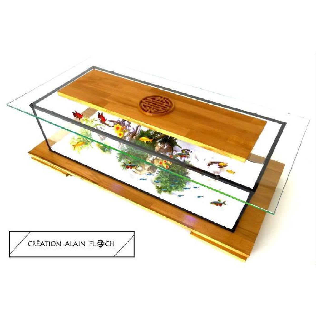 Table basse aquarium chine