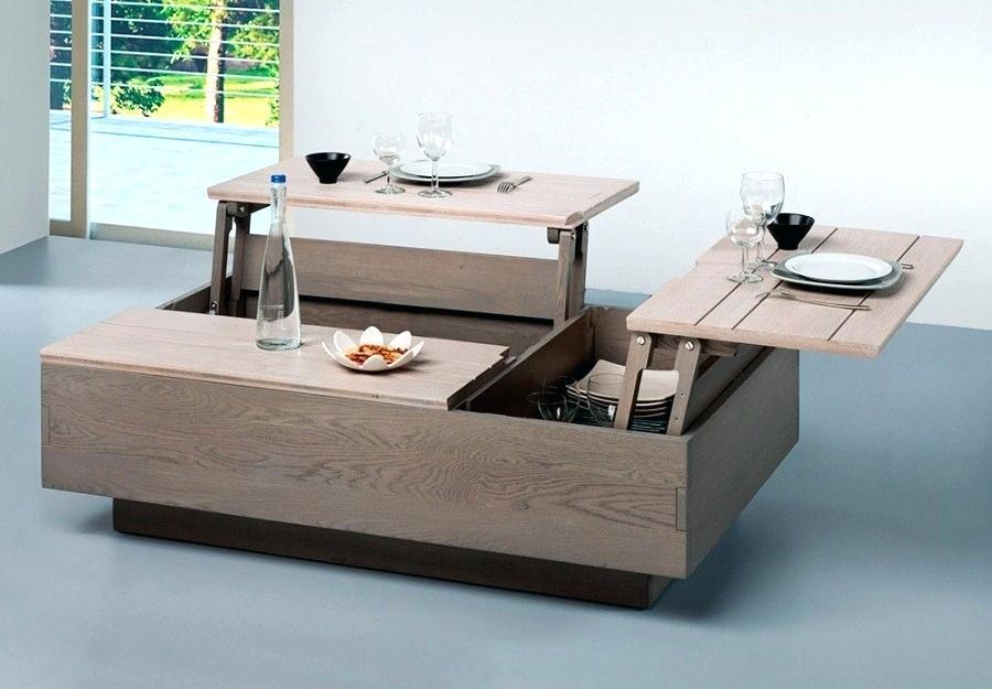 Table Basse Plateau Relevable Harrison Blanc Lille Menagefr Maison