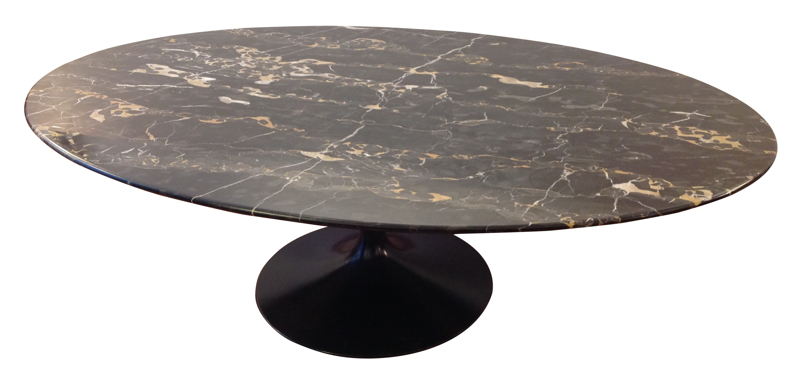 table basse knoll marbre ovale lille maison. Black Bedroom Furniture Sets. Home Design Ideas