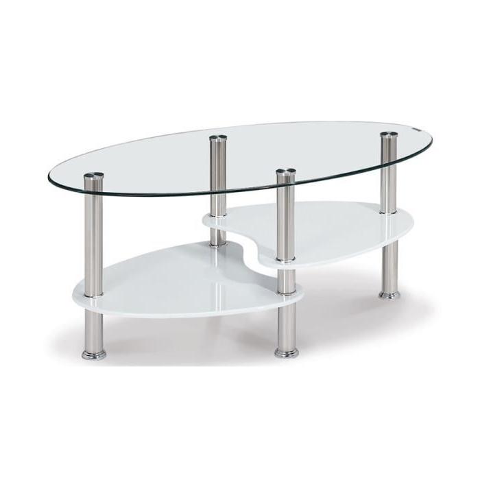 table basse en verre tremp ovale opunake lille maison. Black Bedroom Furniture Sets. Home Design Ideas