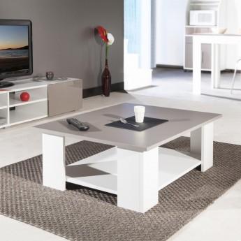Table Basse Gigogne Rubis Coloris Blanc Taupe Lille Menagefr Maison