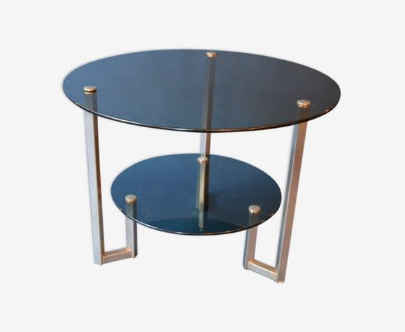 table basse ronde annee 70 lille maison. Black Bedroom Furniture Sets. Home Design Ideas