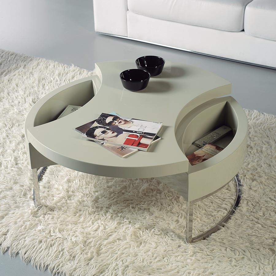 Table basse ronde design italien