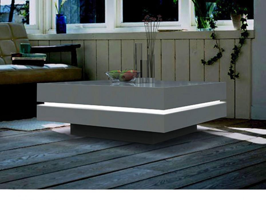 Table Basse Design Laque Blanc Et Noir Lille Menagefr Maison
