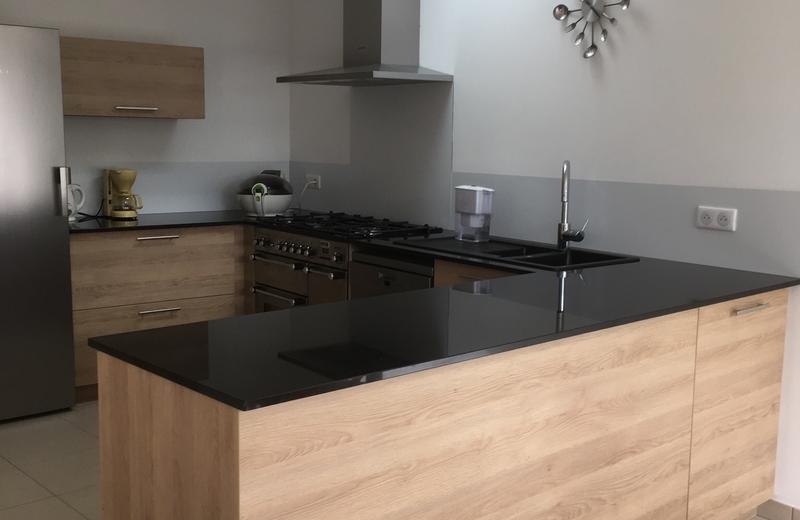 Plan de travail granit ou bois lille maison for Cuisine bois plan de travail noir