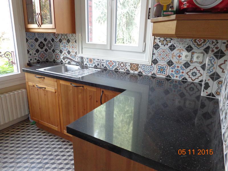 Plan de travail cuisine granit direct portugal lille Plan de travail en carrelage pour cuisine