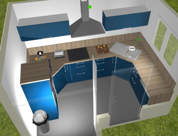 Meuble d 39 angle cuisine pan coup lille maison - Comment couper plan de travail cuisine ...