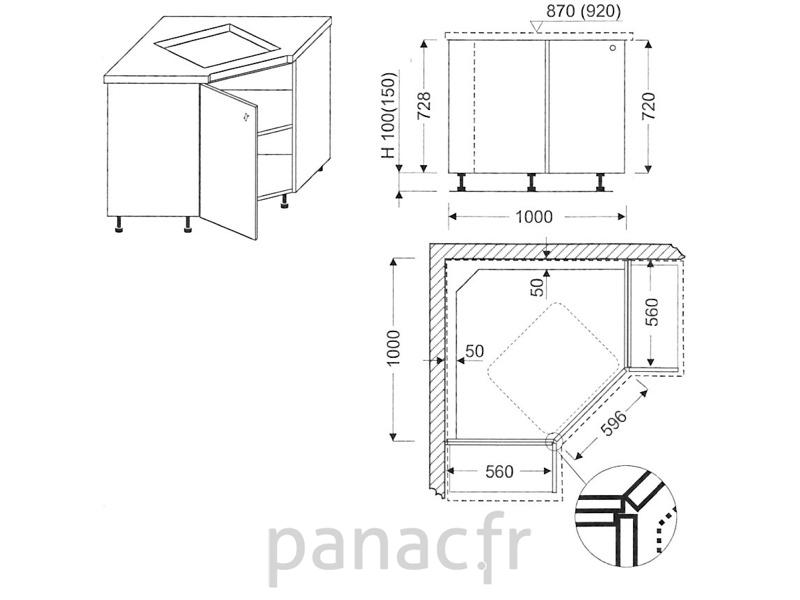 Plan de travail d'angle bois