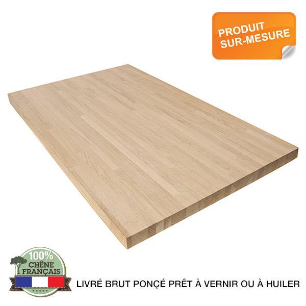 Plan de travail bois massif frene