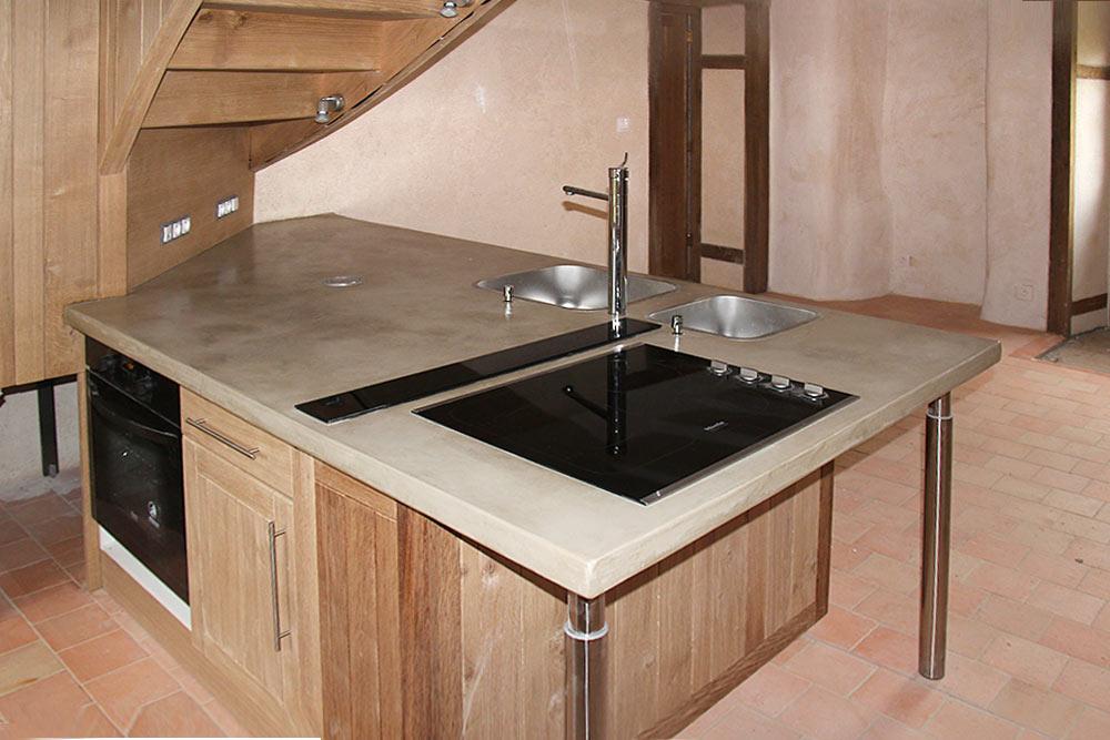 plan de travail beton cire cuisine lille maison. Black Bedroom Furniture Sets. Home Design Ideas