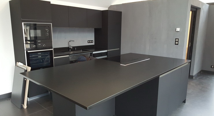 plan de travail granit effet cuir lille maison. Black Bedroom Furniture Sets. Home Design Ideas