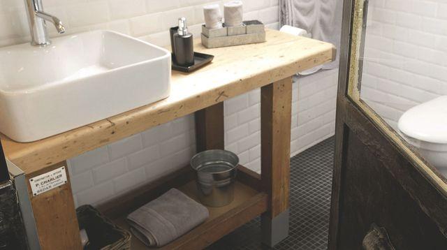 Utiliser un plan de travail pour salle de bain lille maison - Construire meuble de salle de bain ...
