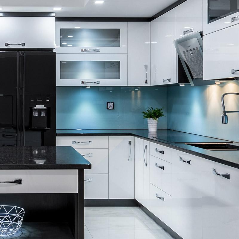 plan de travail pour cuisine blanc brillant lille maison. Black Bedroom Furniture Sets. Home Design Ideas