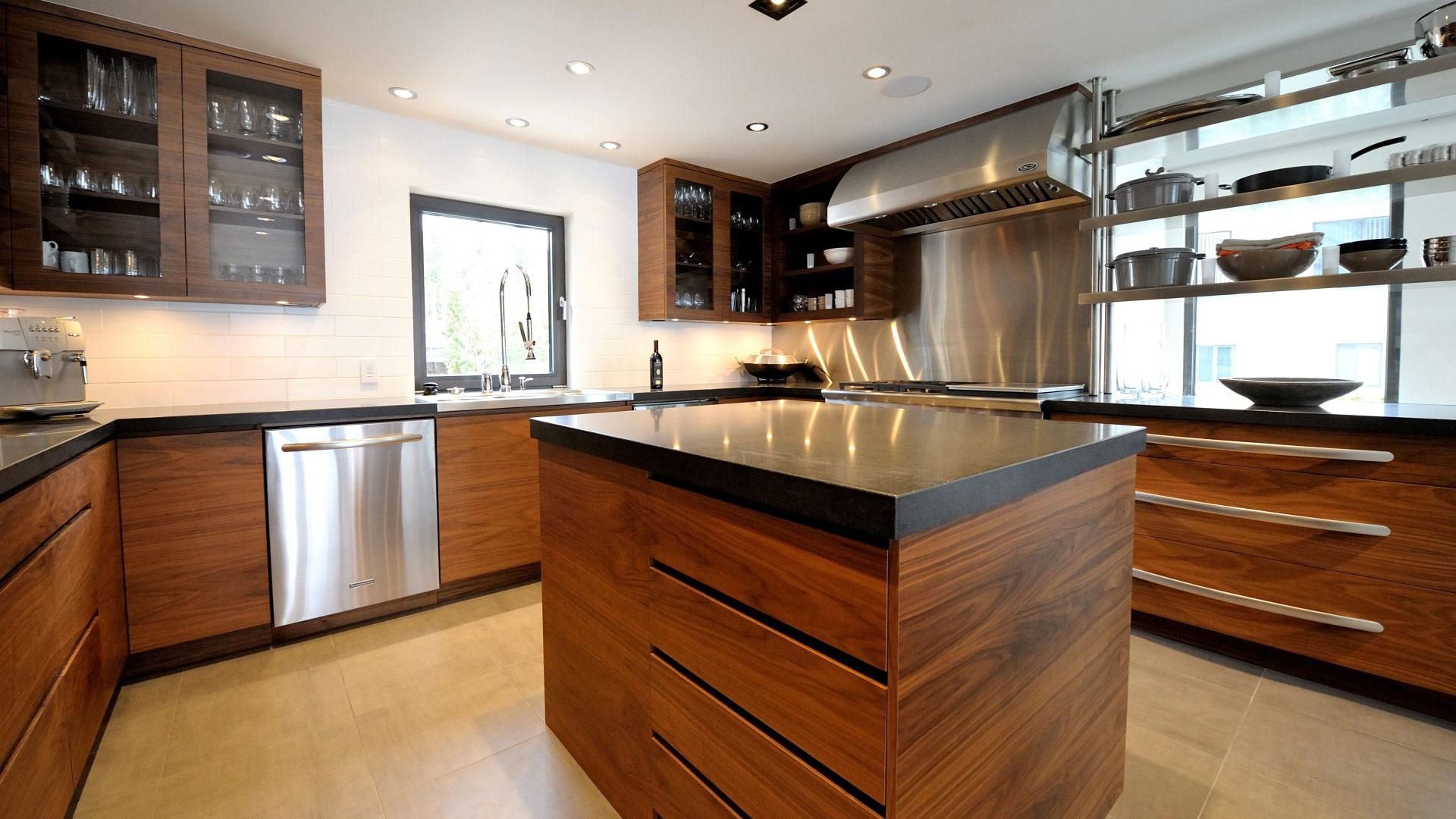 modele cuisine bois et inox lille maison. Black Bedroom Furniture Sets. Home Design Ideas
